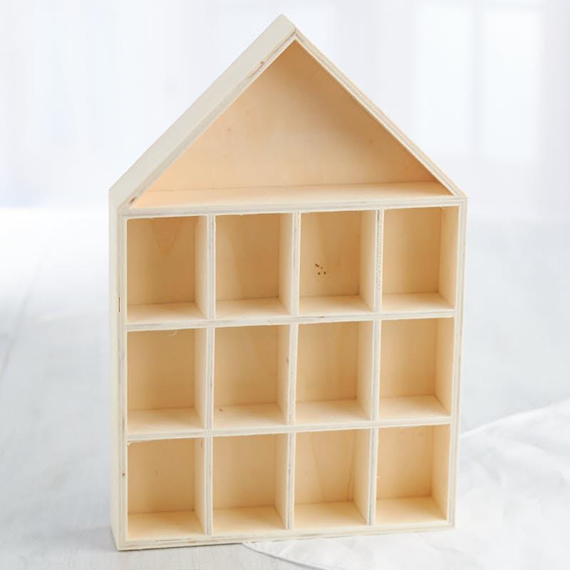 Unfinished Wood House Shadow Box Wood Craft Kits Wood