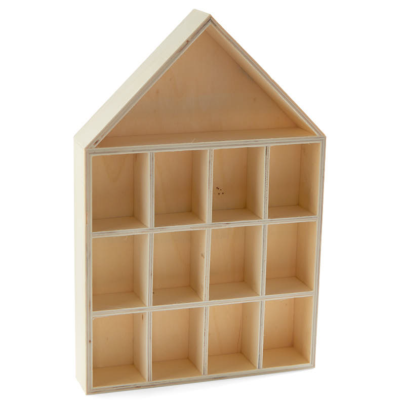 Unfinished wood house shadow box wood craft kits for Wood craft supply stores