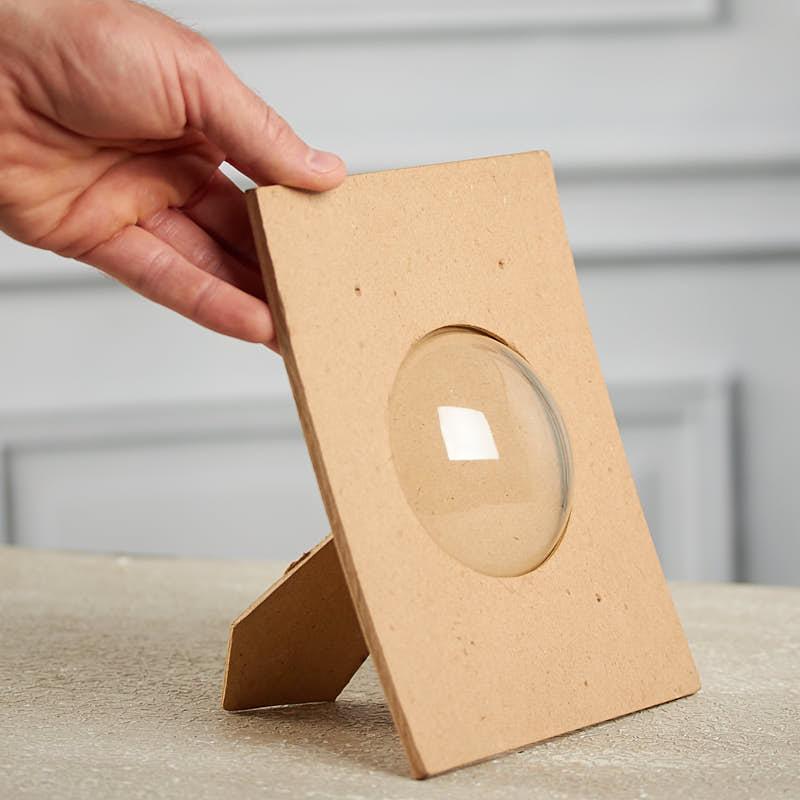 paper mache domed picture frame paper mache basic. Black Bedroom Furniture Sets. Home Design Ideas