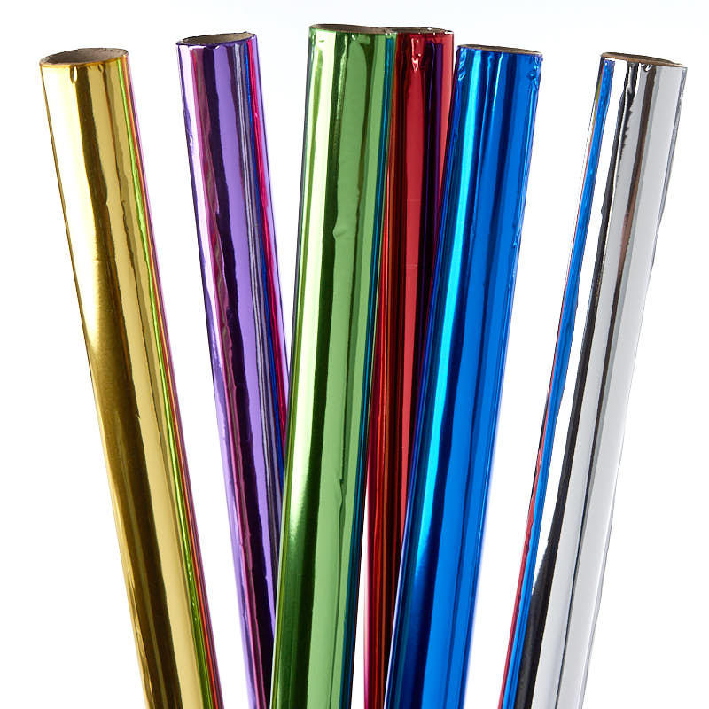 mylar wrapping paper These ultra shiny, super mirror-like reflective mylar rolls can be used for a variety  of colorful  is this a paper or other material like a candy wrapping foil.