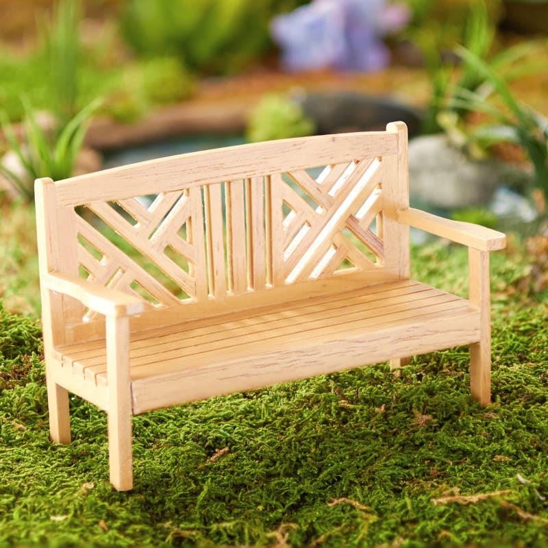 Tremendous Dollhouse Miniature Garden Bench Fairy Garden Supplies Ibusinesslaw Wood Chair Design Ideas Ibusinesslaworg
