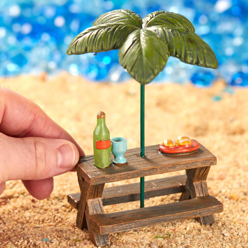 Miniature Beach Picnic Table Fairy Garden Supplies