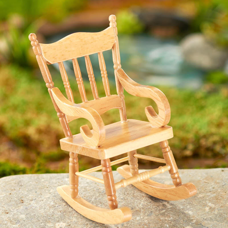 Miniature Wood Rocking Chair Nursery Miniatures