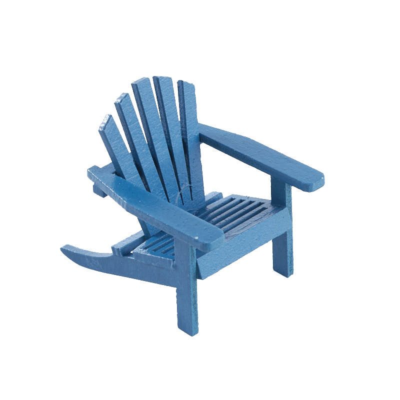 miniature blue adirondack chair fairy garden miniatures dollhouse