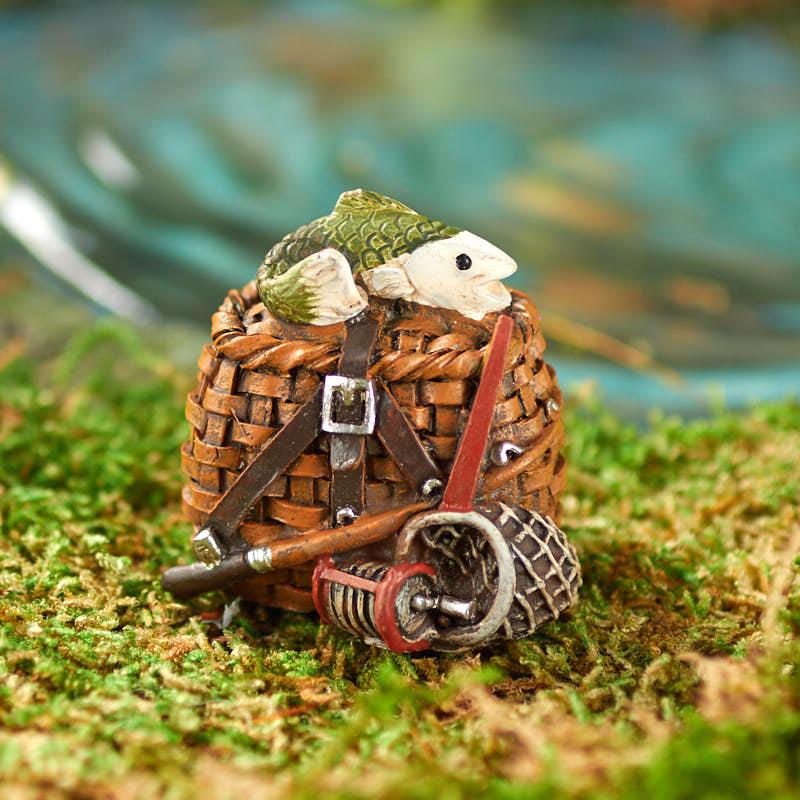 Miniature Fishing Creel Basket
