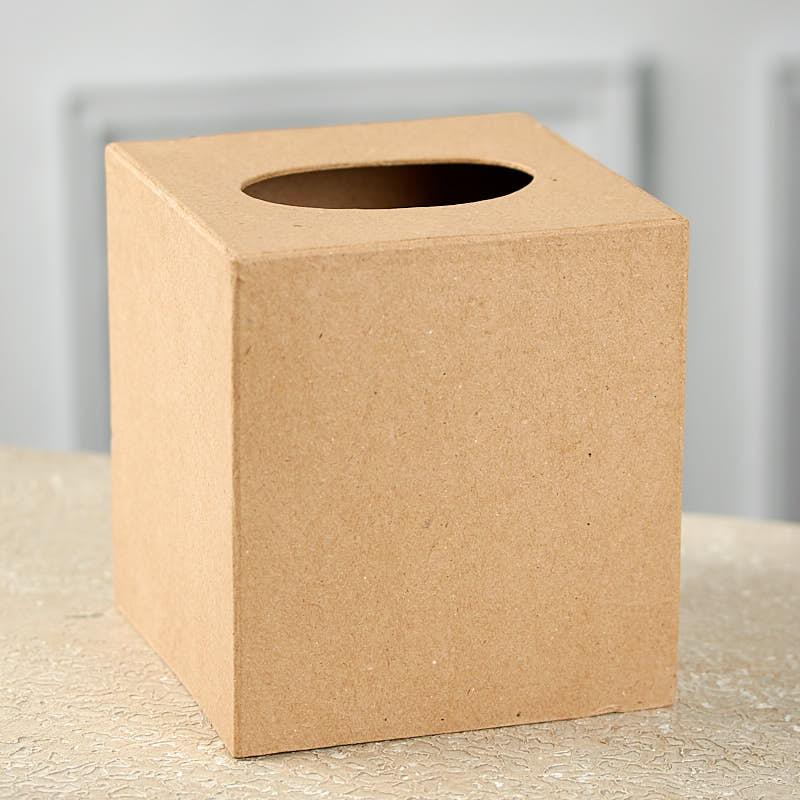 Shop Towels Paper Mache: Paper Mache Tissue Cover Box
