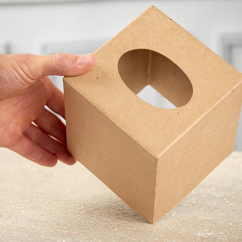 Paper mache tissue cover box paper mache basic craft for Tissue box cover craft