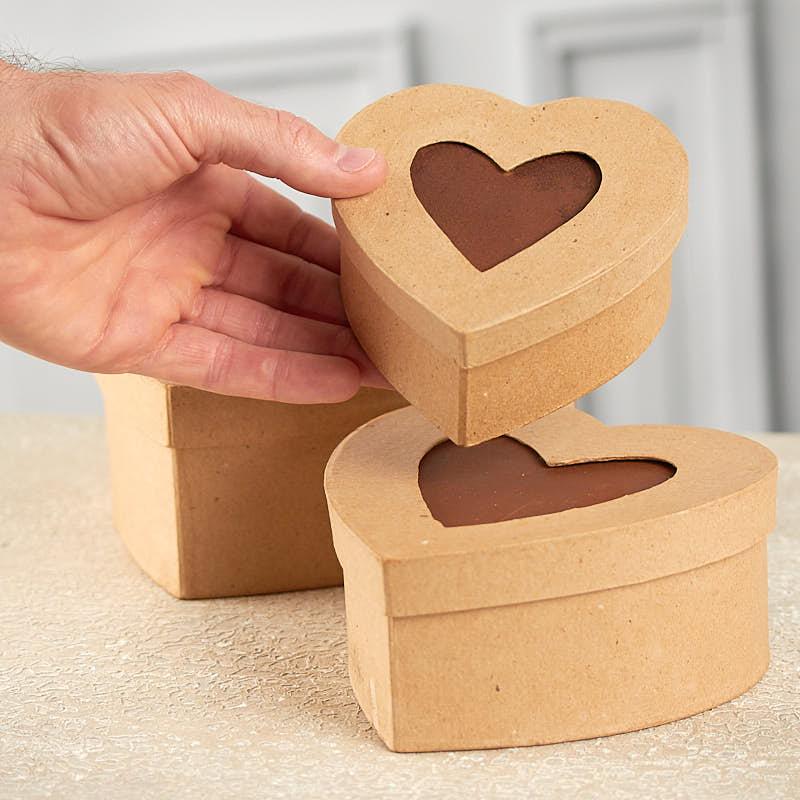 Paper Mache Picture Frame Heart Box Set Paper Mache