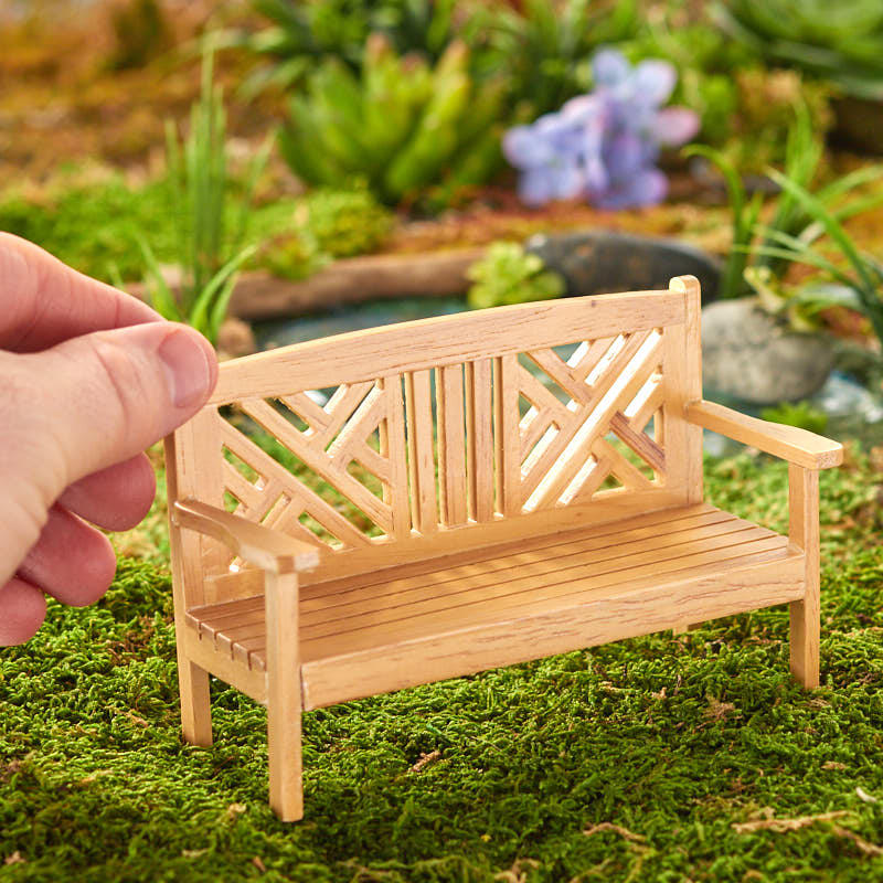 Dollhouse Miniature Garden Bench Fairy Garden Supplies