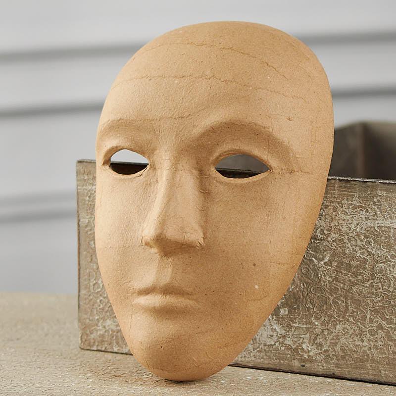 Paper mache mask fall craft supplies fall and halloween holiday crafts - Masque papier mache ...