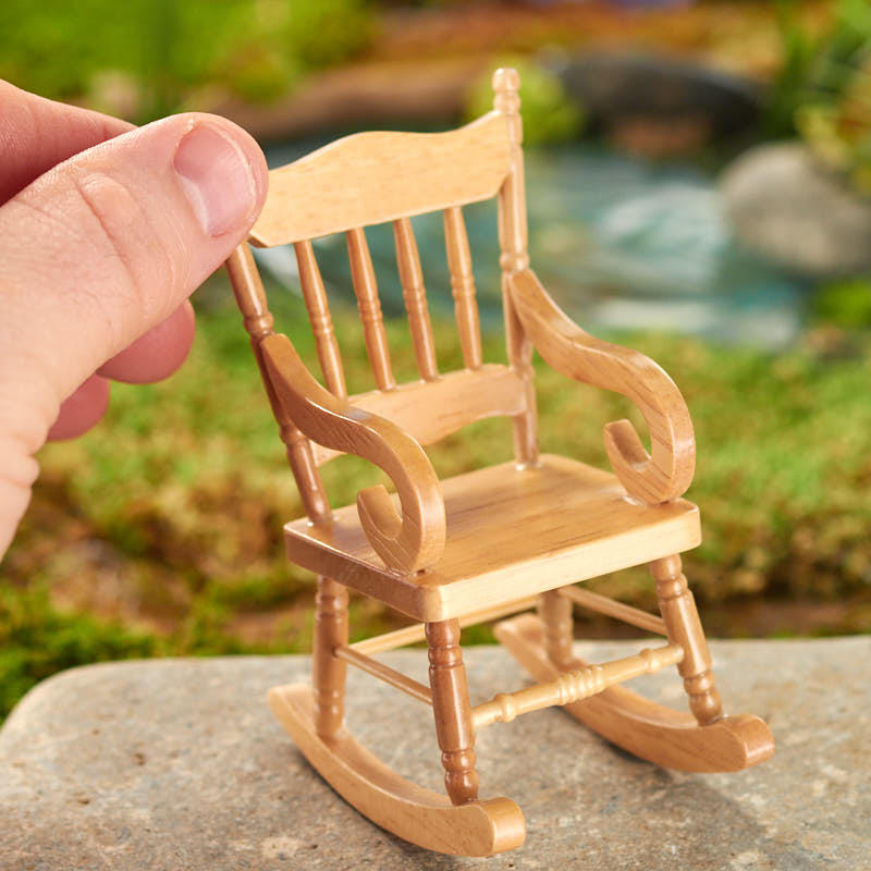 Miniature Wood Rocking Chair - Whats New - Craft Supplies
