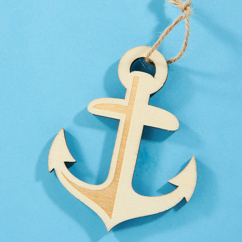 Laser Cut Wood Anchor Cutout Wood Cutouts Unfinished