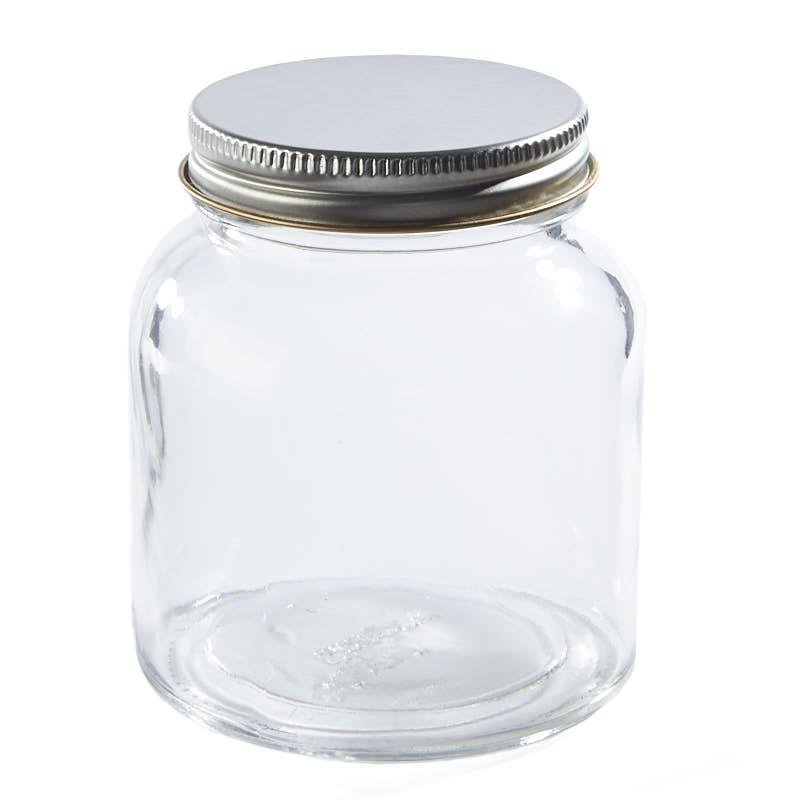 glass jar with lid jars lids and pumps primitive decor. Black Bedroom Furniture Sets. Home Design Ideas