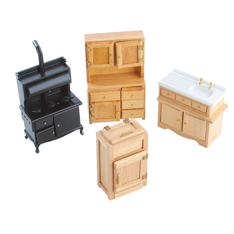 dollhouse miniatures vintage kitchen set kitchen