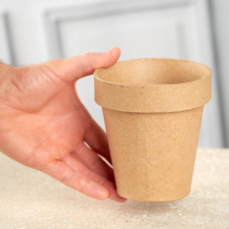 Paper Mache Flower Pot Paper Mache Basic Craft