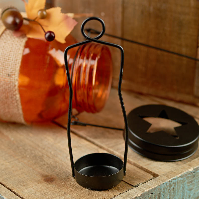 Home Decor Candle Holders And Accessories: Fall Harvest Mason Jar Tea Light Candle Holder