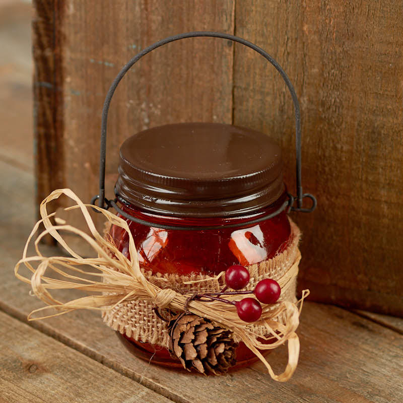 Harvest Glass Mason Jar Tea Light Candle Holder Candles And