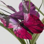 Purple and Fuchsia Artificial Butterfly Grass Bush