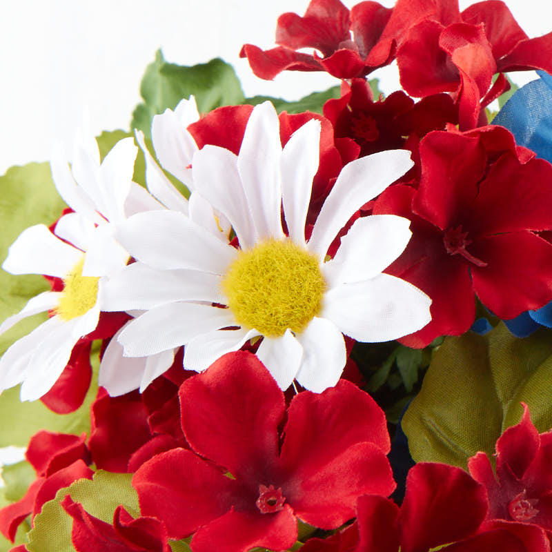 Red White And Blue Artificial Floral Bush Bushes And Bouquets