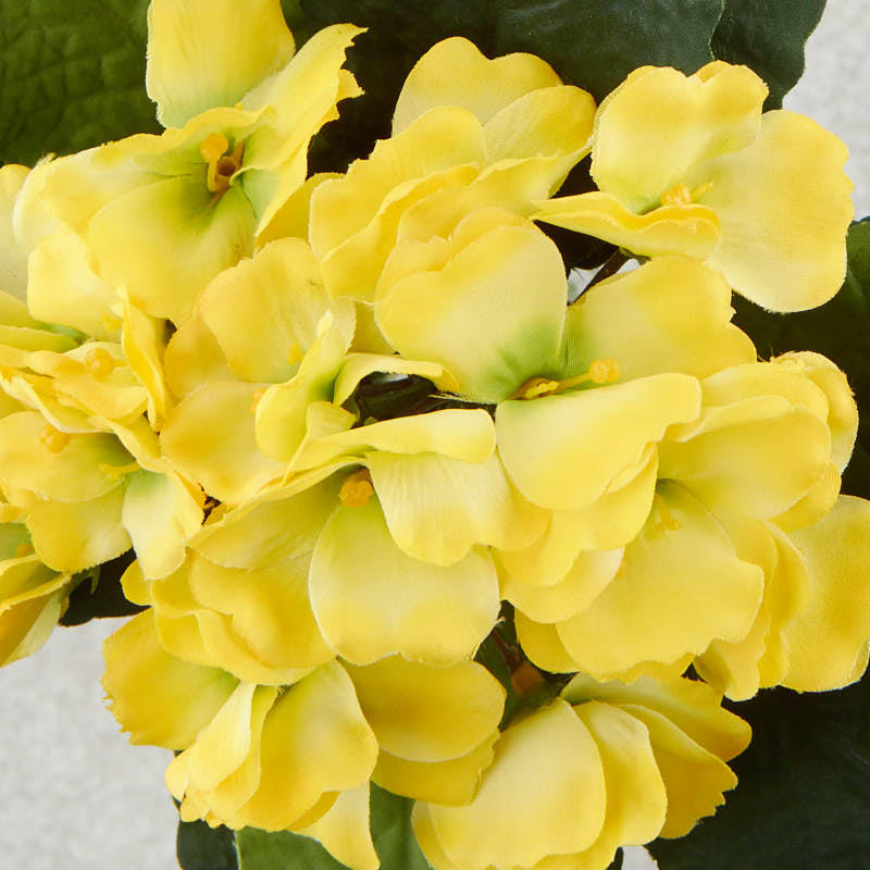 Yellow Artificial African Violet Bush Bushes Bouquets
