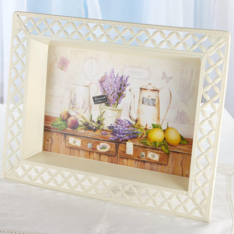 Vintage-Inspired Lavender French Decoupage Tray