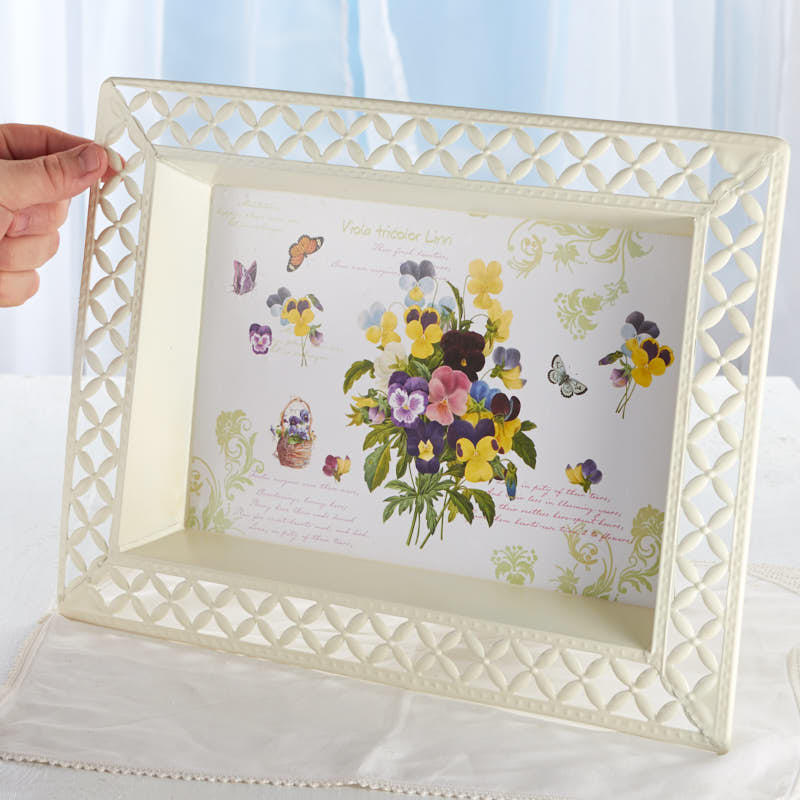 Vintage-Inspired Viola French Decoupage Tray