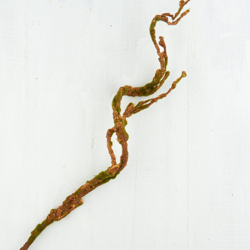 Brown Artificial Curly Willow Twig Spray