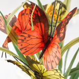 Orange and Yellow Artificial Butterfly Grass Bush