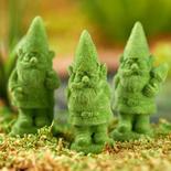 Miniature Flocked Gnomes