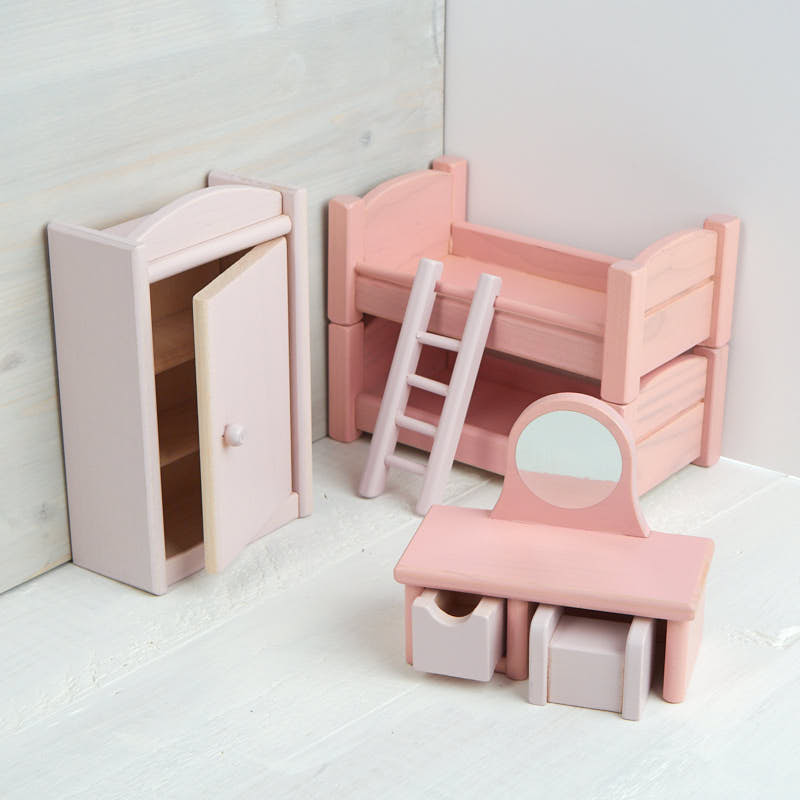 wooden dollhouse bunk bedroom set what 39 s new dollhouse miniatures