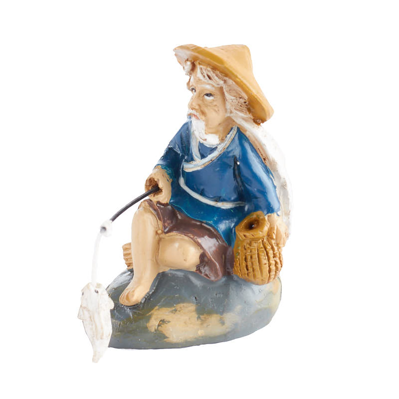 Miniature Fishing Mud Man