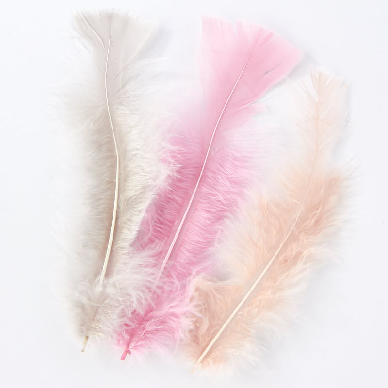 Pink natural loose feathers feathers boas basic for Natural feathers for crafts