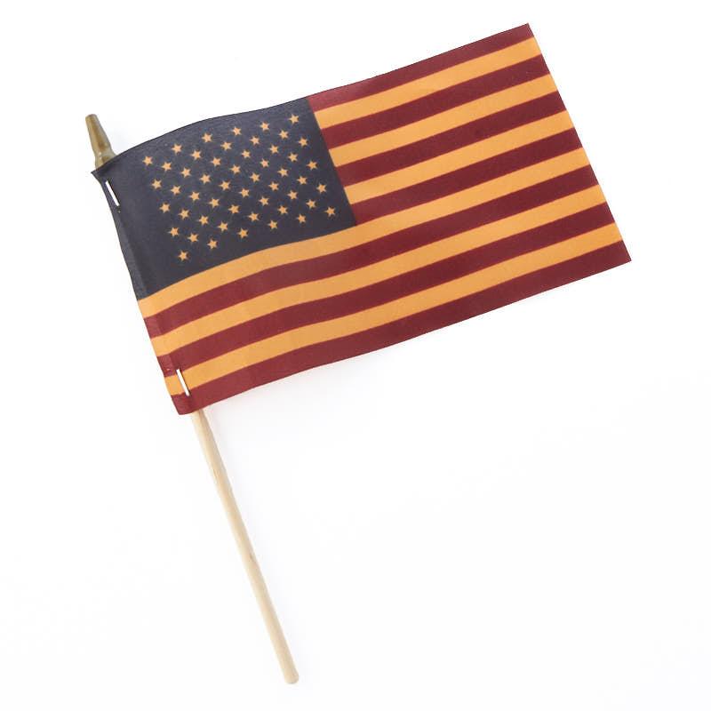 Tea Stained American Flag Americana Decor Home Decor