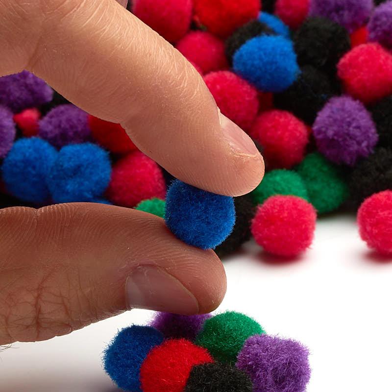 Multicolored craft pom poms pom poms basic craft for Where to buy pom poms for crafts