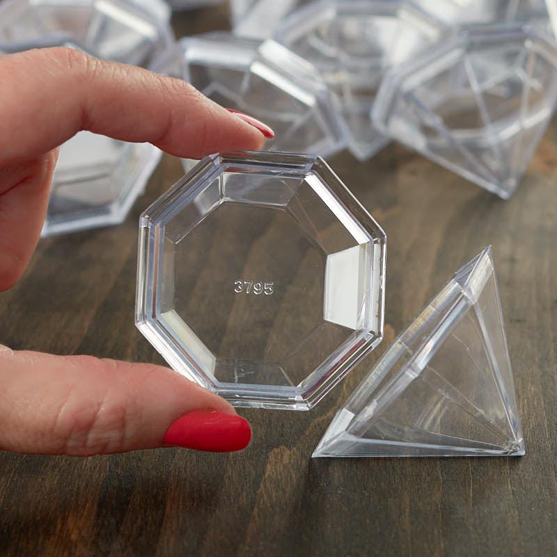 Diamond Bath Bomb Molds Acrylic Fillable Ornaments