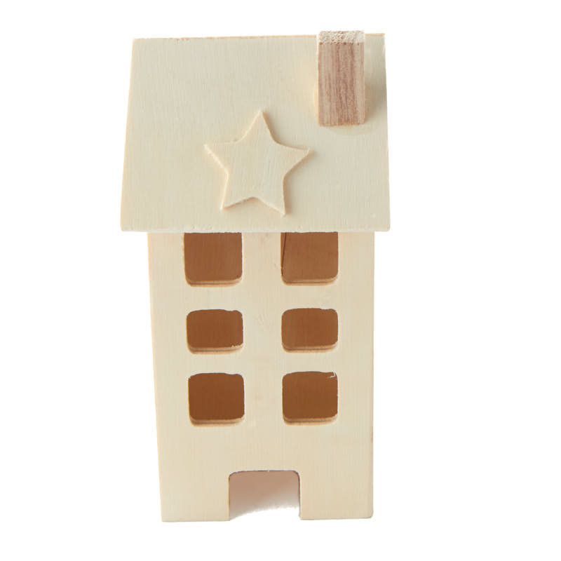Unfinished wood primitive saltbox house wood craft kits for Wood craft supply stores