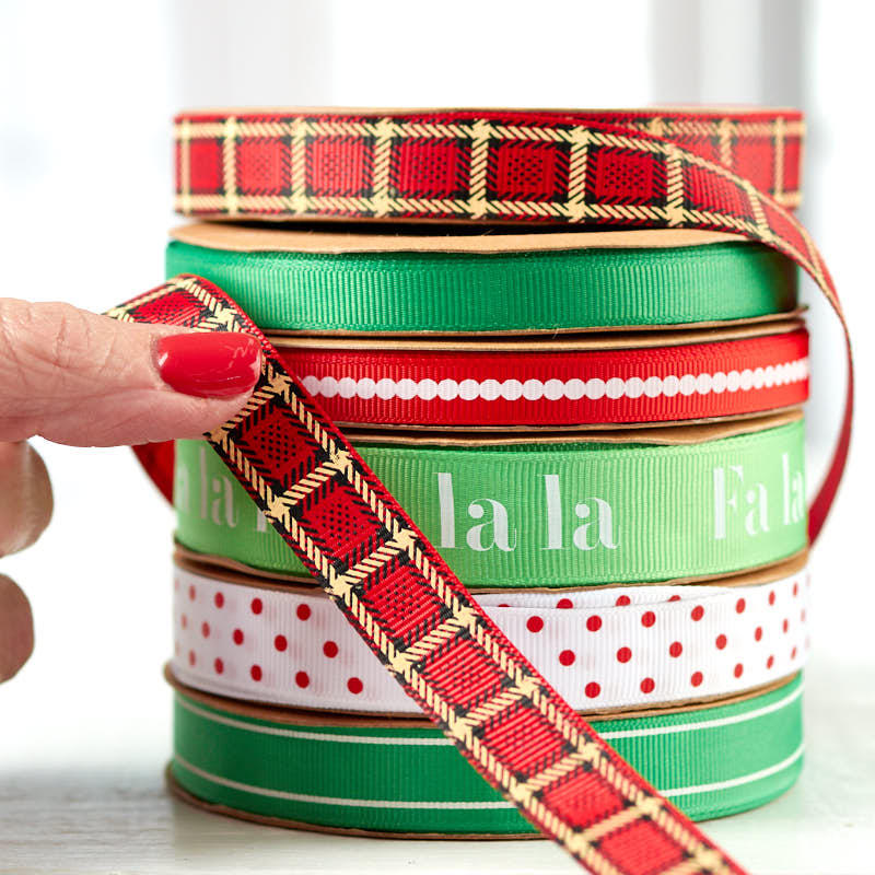 Christmas grosgrain ribbon set ribbon and trims craft for Craft ribbons and trims