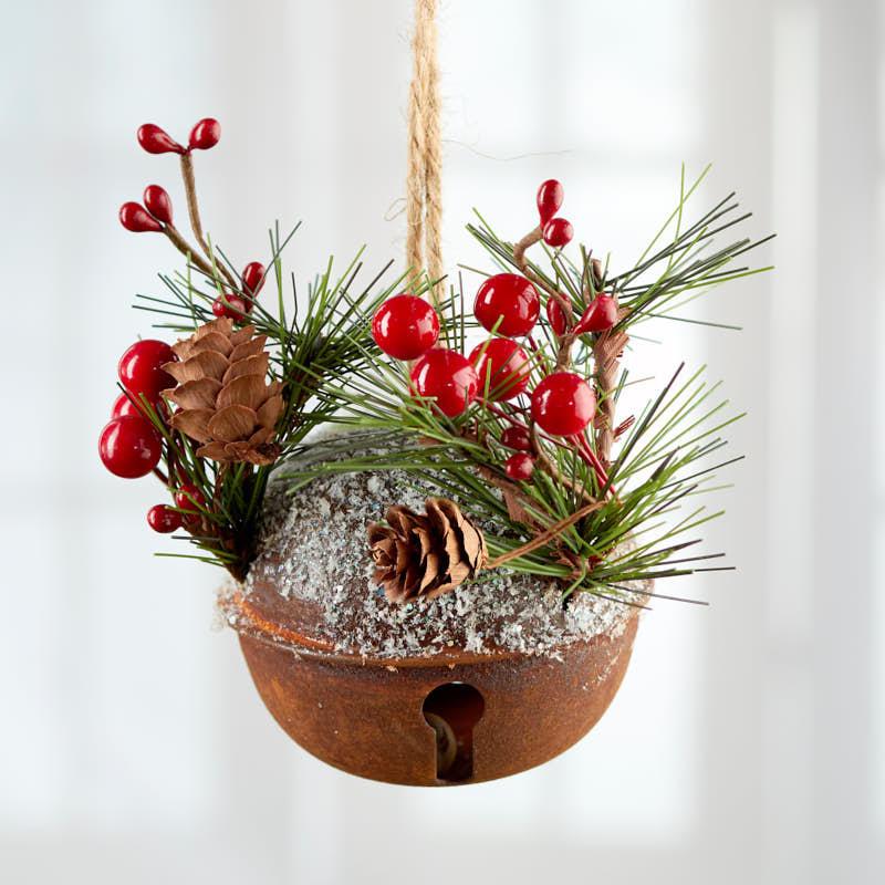 Rustic Woodland Jingle Bell Ornament - Christmas Ornaments ...