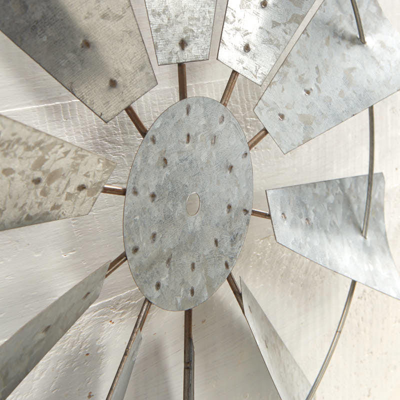 Galvanized Windmill Wall Decor Set Wall Art Primitive