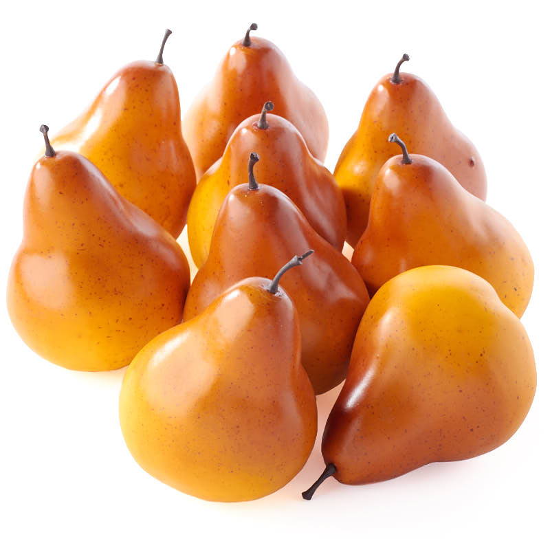 Orange artificial pears vase and bowl fillers home decor for Artificial pears decoration