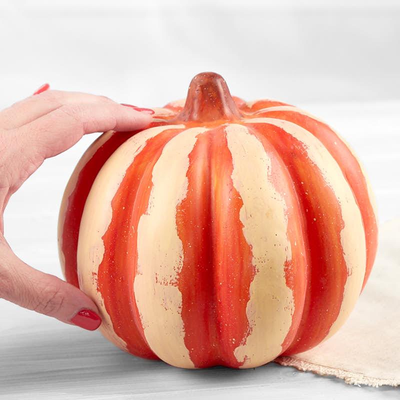 Pumpkin Decorating Ideas And My Curated Pumpkin Roundup: Round Artificial Pumpkin