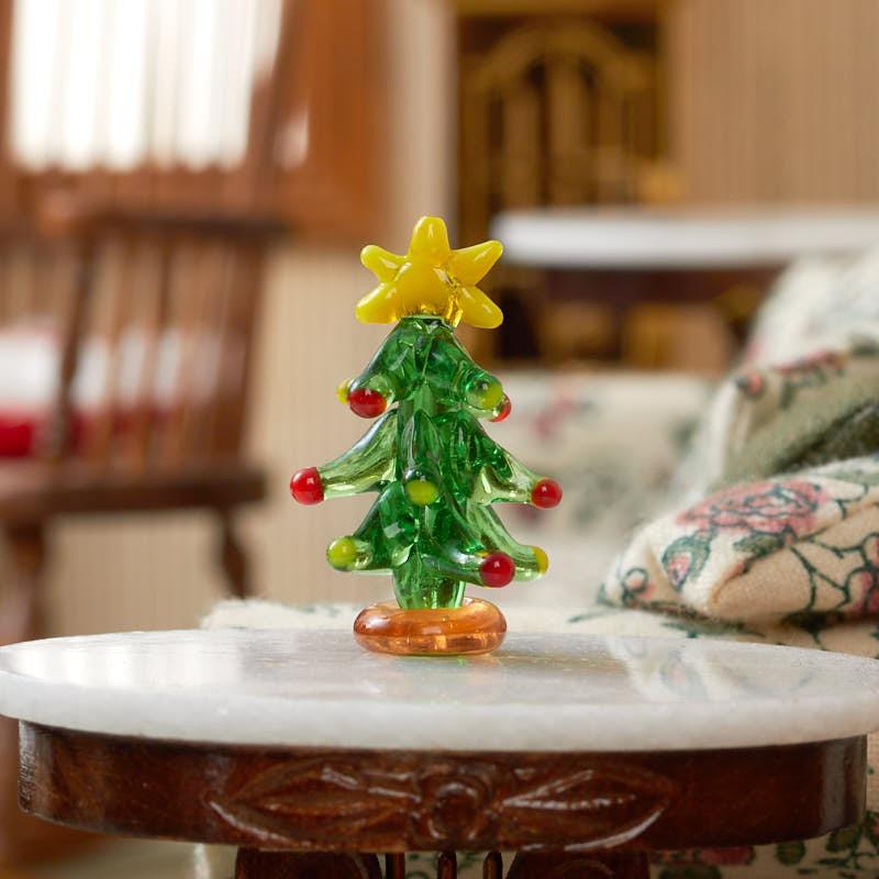 Miniature glass christmas tree miniatures