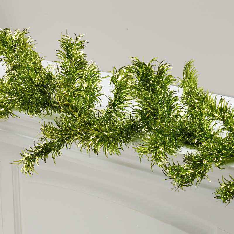 Green tinsel garland on sale holiday crafts