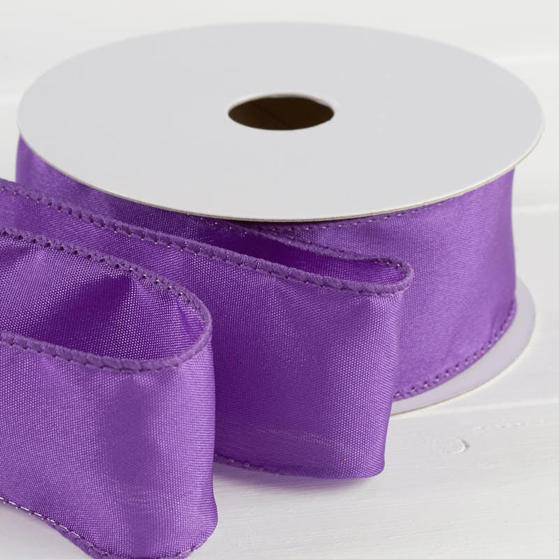 Purple satin wired ribbon ribbon and trims craft supplies for Craft ribbons and trims