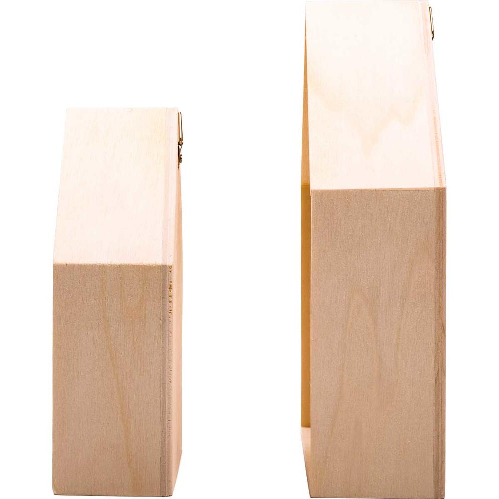 Unfinished wood house shadow box wood craft kits for Unfinished wooden boxes for crafts