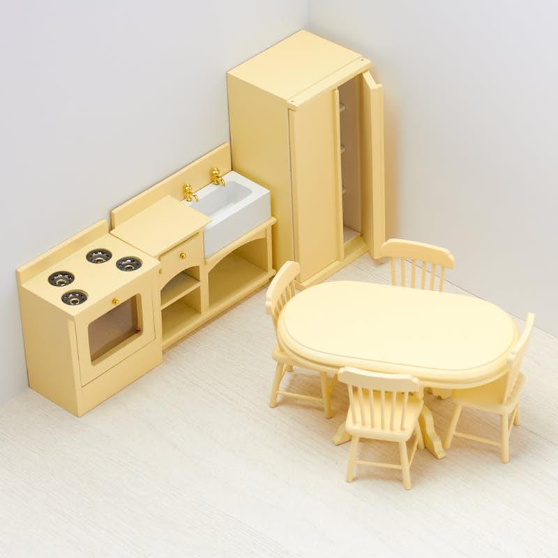 Dollhouse Miniature Complete Kitchen Set