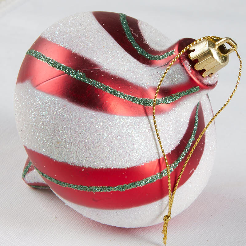 Red and White Striped Christmas Ornament - Christmas ...