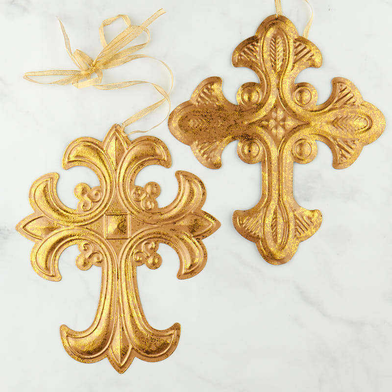 Gold Cross Wall Decor : Gold ornate cross wall decor home