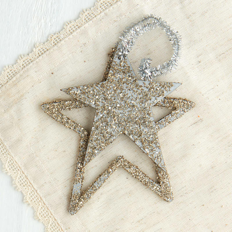 Wedding Gift Ornaments : Gold Glittered Star Cutout OrnamentNew Items