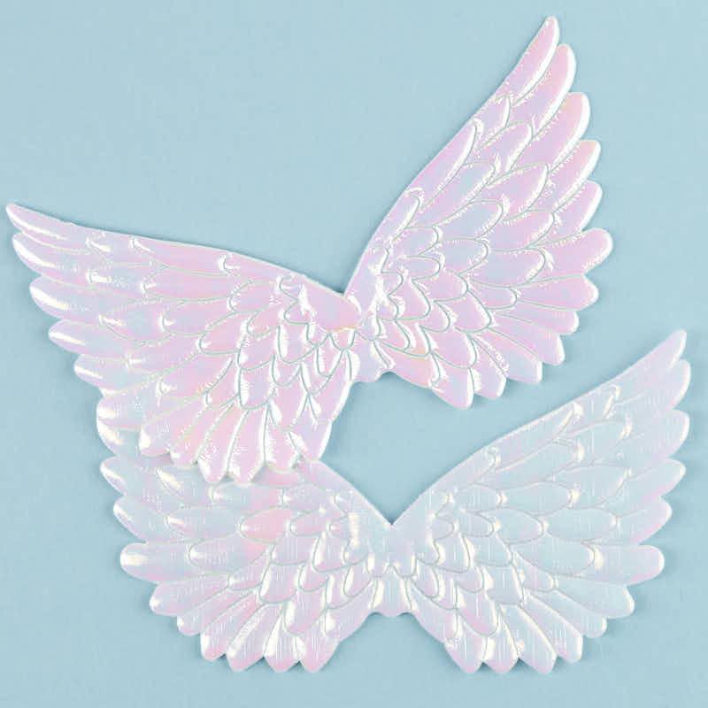 embossed iridescent angel wings - angel wings